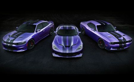 Amazing Technicarbon Plumcoat! Dodge Offers Carbon-Look Hellcat Stripes, Extends Plum Craziness
