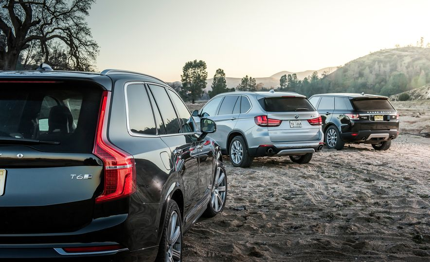 2016 Volvo XC90 T6 AWD Inscription, 2015 BMW X5 xDrive35i, 2015 Land Rover Range Rover Sport HSE, and 2017 Audi Q7 3.0T - Slide 8