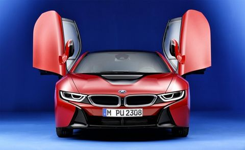 Bmw I8 Protonic Red Edition A Red And Gray Hybrid For England