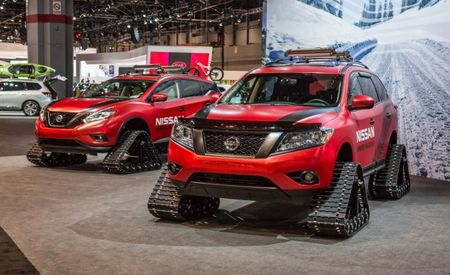 Crossover Tracks! Nissan Shows Off Tracked Winter Warrior CUVs [Video]