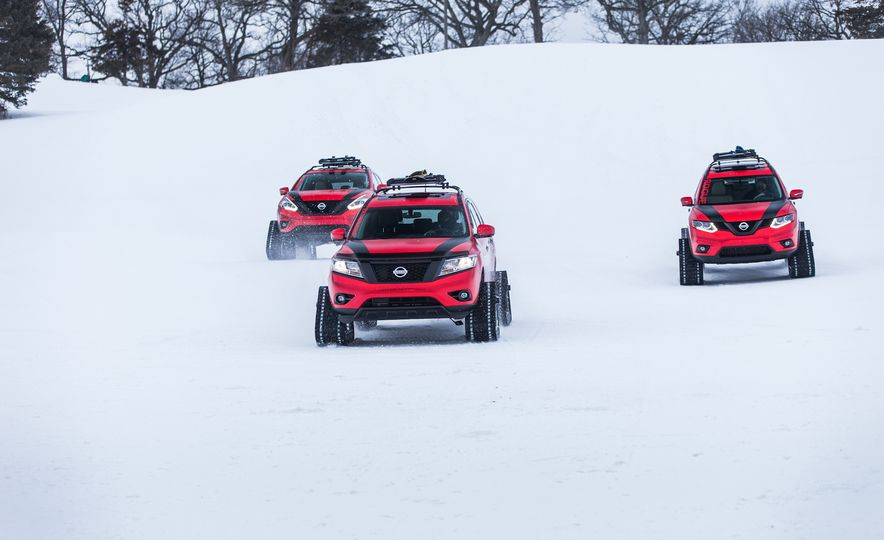 Nissan Murano and Pathfinder Winter Warrior concept - Slide 35