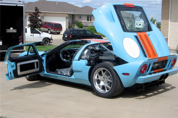 Brand New Gulf Blue  Ford Gt Going Up For Auction News Car And Driver