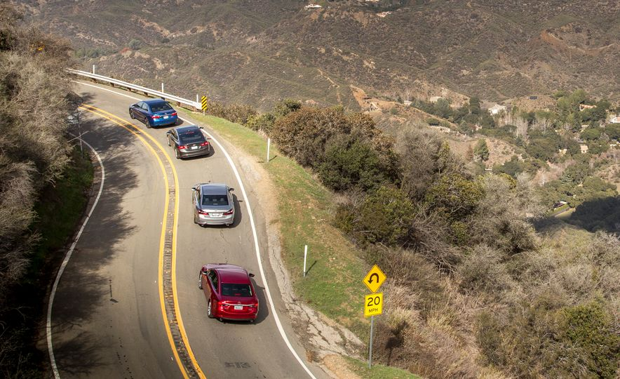 2016 Toyota Camry SE, 2016 Chevrolet Malibu LT, 2016 Honda Accord Sport, and 2016 Mazda 6 i Touring - Slide 1