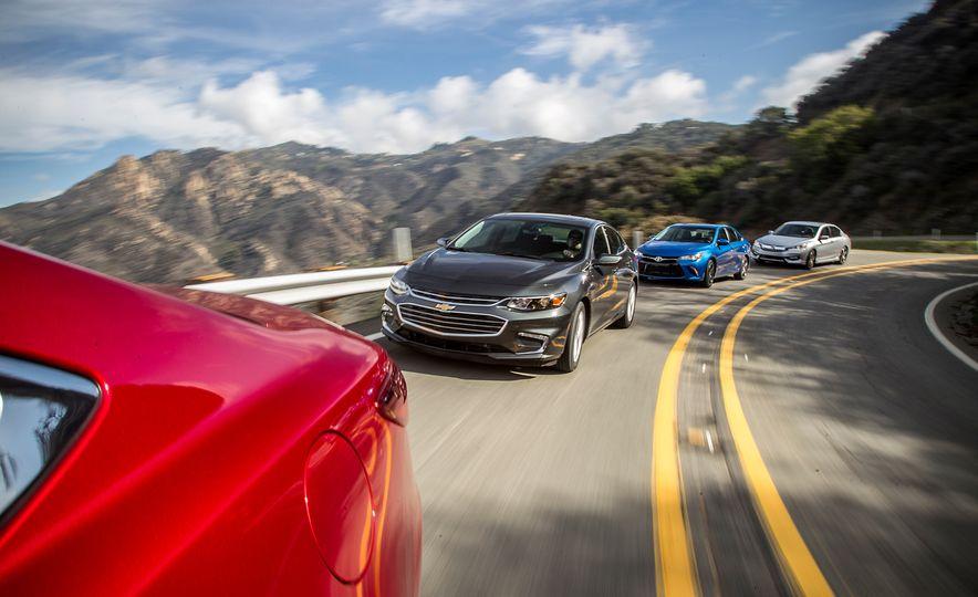 2016 Toyota Camry SE, 2016 Chevrolet Malibu LT, 2016 Honda Accord Sport, and 2016 Mazda 6 i Touring - Slide 2