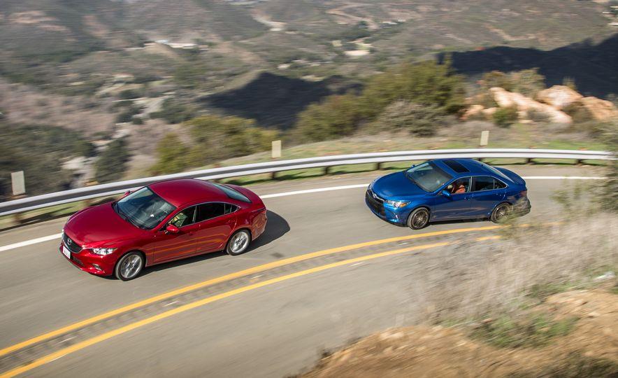 2016 Toyota Camry SE, 2016 Chevrolet Malibu LT, 2016 Honda Accord Sport, and 2016 Mazda 6 i Touring - Slide 5