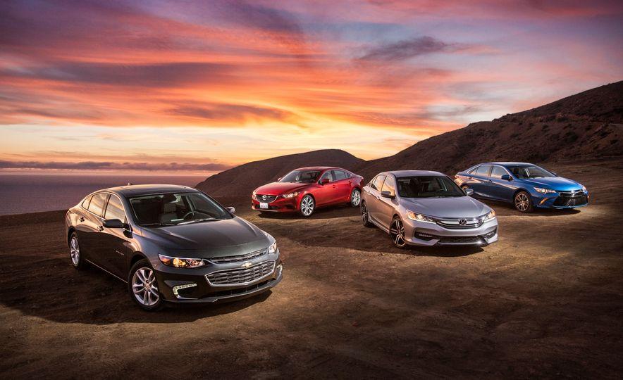 2016 Toyota Camry SE, 2016 Chevrolet Malibu LT, 2016 Honda Accord Sport, and 2016 Mazda 6 i Touring - Slide 6