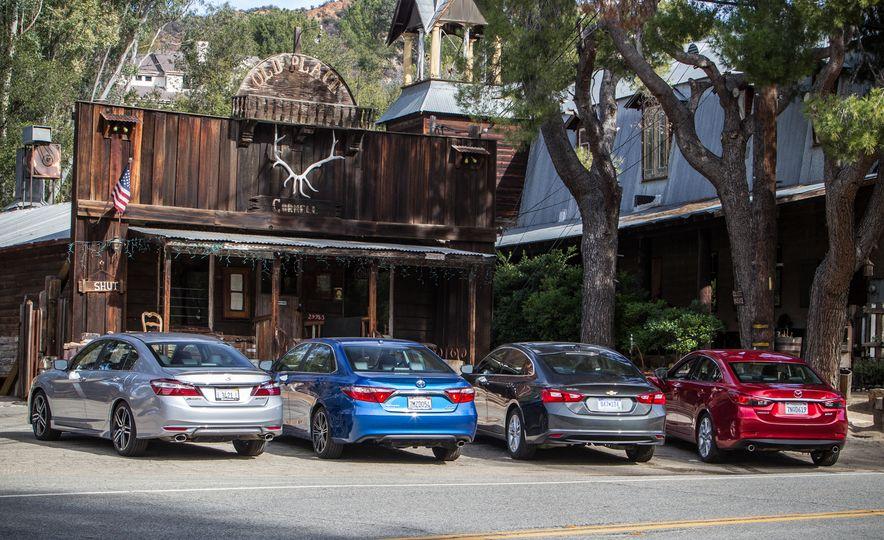 2016 Toyota Camry SE, 2016 Chevrolet Malibu LT, 2016 Honda Accord Sport, and 2016 Mazda 6 i Touring - Slide 7