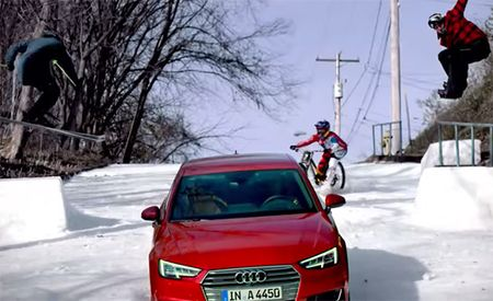 Audi A4, Red Bull Extreme Athletes Tackle Steepest Street in the World [w/ Video]