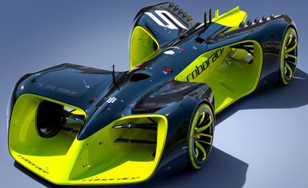 This Is the Design for Roborace's Self-Driving Race Car