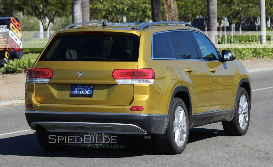 2018 Volkswagen three-row crossover (spy photo) - Slide 5