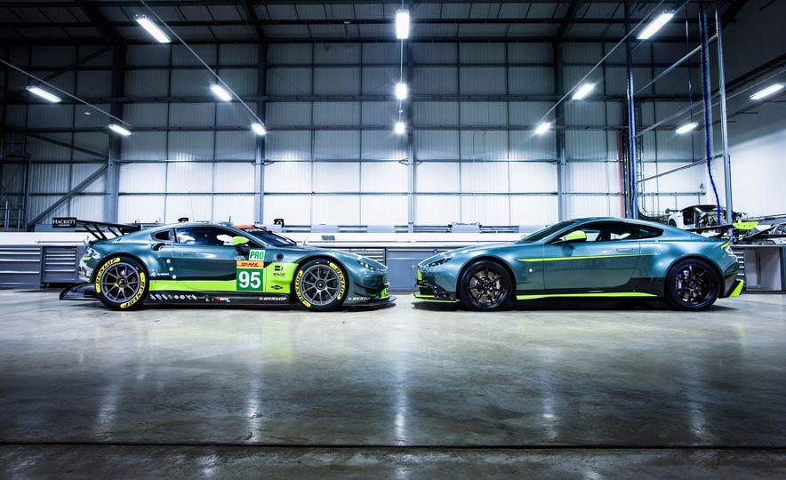 Aston Martin Vantage GT8 and Aston Martin Vantage race car - Slide 1