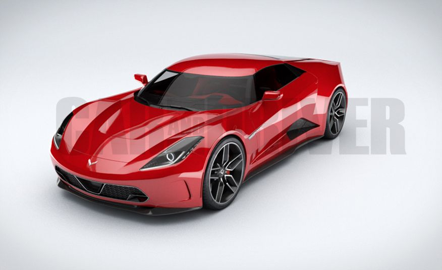 Mid-Engined Chevrolet Corvette (artist's rendering ...