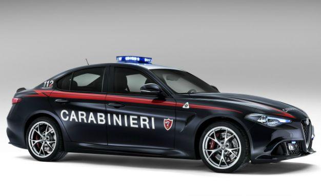 Italy's Carabinieri Now Have Two 505-hp Alfa Romeo Giulia Quadrifoglios