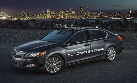 Acura Testing Autonomous Driving Tech with This Gadget-Stuffed RLX Hybrid