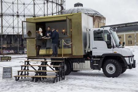 BurgerMog! This Mercedes Unimog Food Truck Makes Helsinki's Best Hamburgers