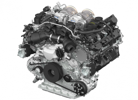 Porsche Unveils New Twin-Turbo V-8