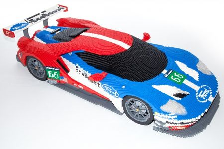 Le Mans, Le Go: Ford to Display GT Race Car Made from 40,000 Lego Bricks