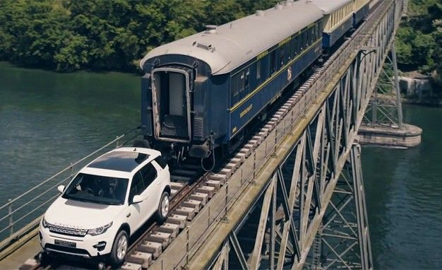 Strength Training: Land Rover Tows a Train in Switzerland