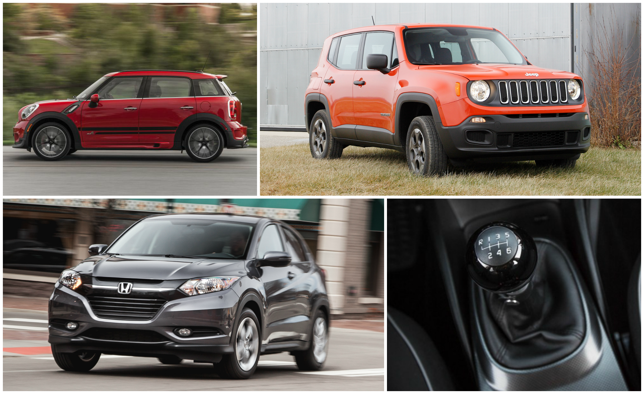 row your own the 12 crossovers and suvs you can still get with a rh caranddriver com Jeep Renegade Manual Transmission Best SUV with Manual Transmission