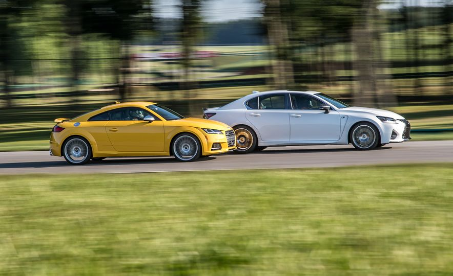 2016 Audi TTS and 2016 Lexus GS F - Slide 1