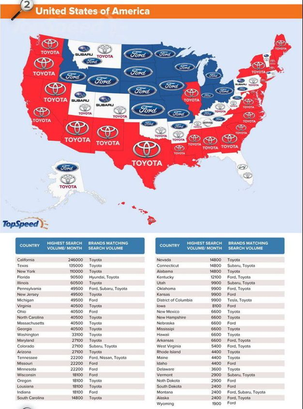 A world map of the most googled car brands by country news car a world map of the most googled car brands by country news car and driver gumiabroncs Images