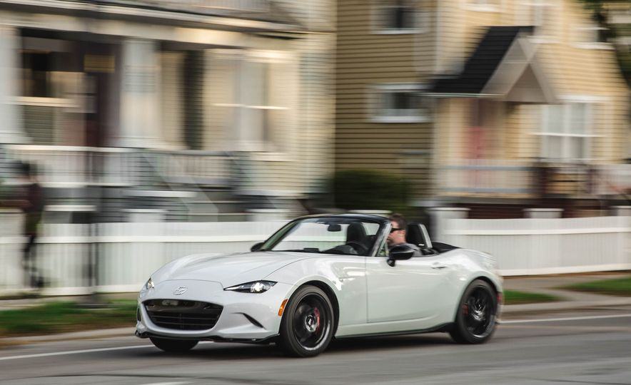 2018 Mazda MX-5 Miata with Dark Cherry softtop - Slide 2