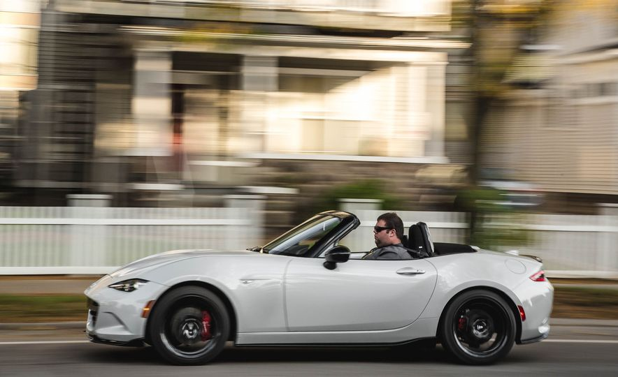2018 Mazda MX-5 Miata with Dark Cherry softtop - Slide 3