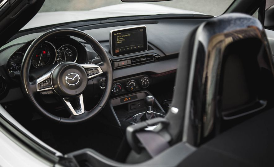 2018 Mazda MX-5 Miata with Dark Cherry softtop - Slide 21