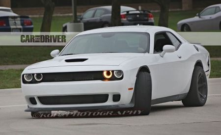 Dodge Challenger Hellcat ADR Spied with Wide Tires, without Wide Body