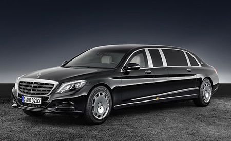 Guard Your Life with the 21-Foot-Long, 12,000-Pound, Armored Mercedes-Maybach S600 Pullman Guard