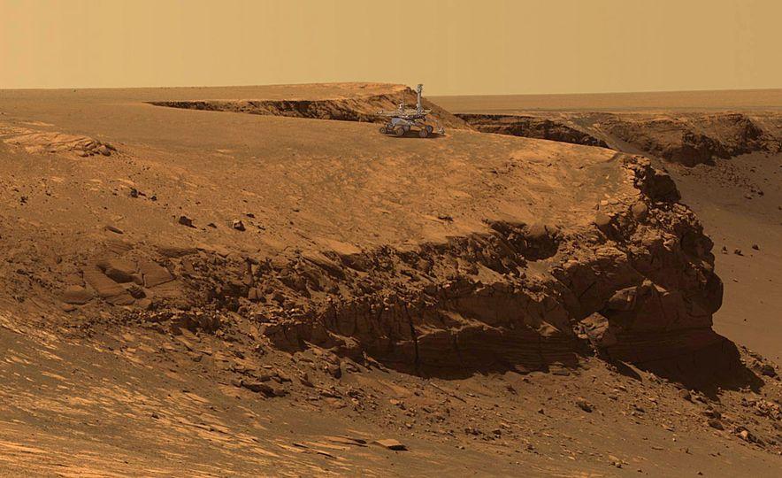 Mars Opportunity rover (artist's rendering) - Slide 1