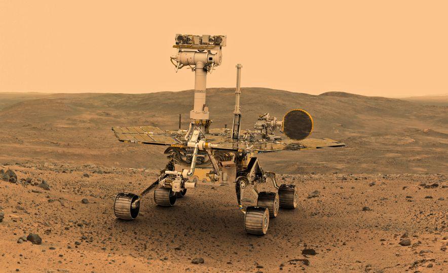 Mars Opportunity rover (artist's rendering) - Slide 2