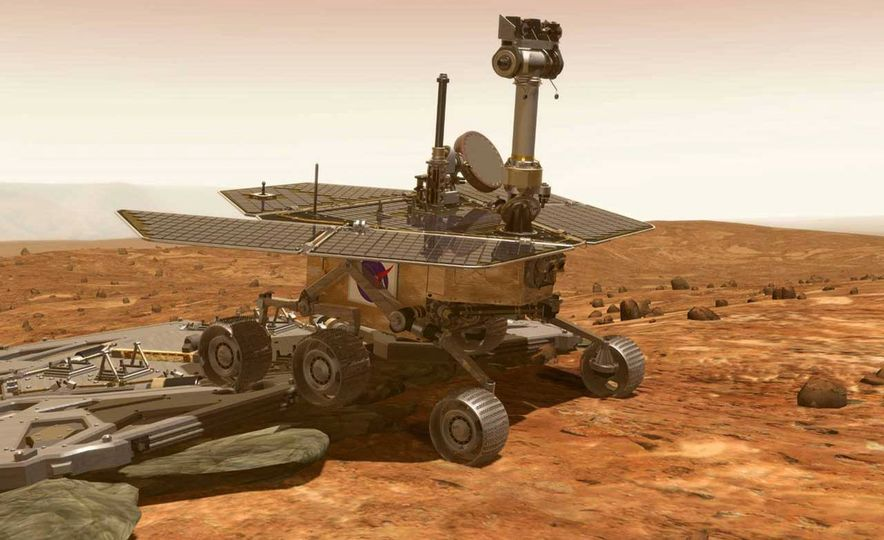 Mars Opportunity rover (artist's rendering) - Slide 3