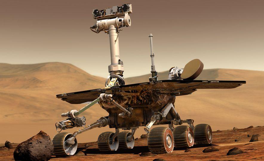 Mars Opportunity rover (artist's rendering) - Slide 4