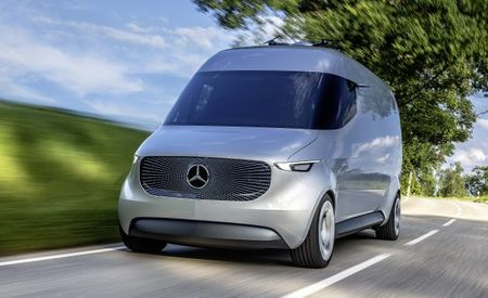 Mercedes Vision Van Concept Has Rooftop Drones to Handle the Deliveries