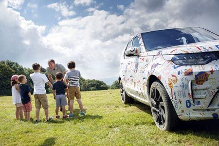 2017 Land Rover Discovery Striptease Continues with Camo Designed by Adorable Kids