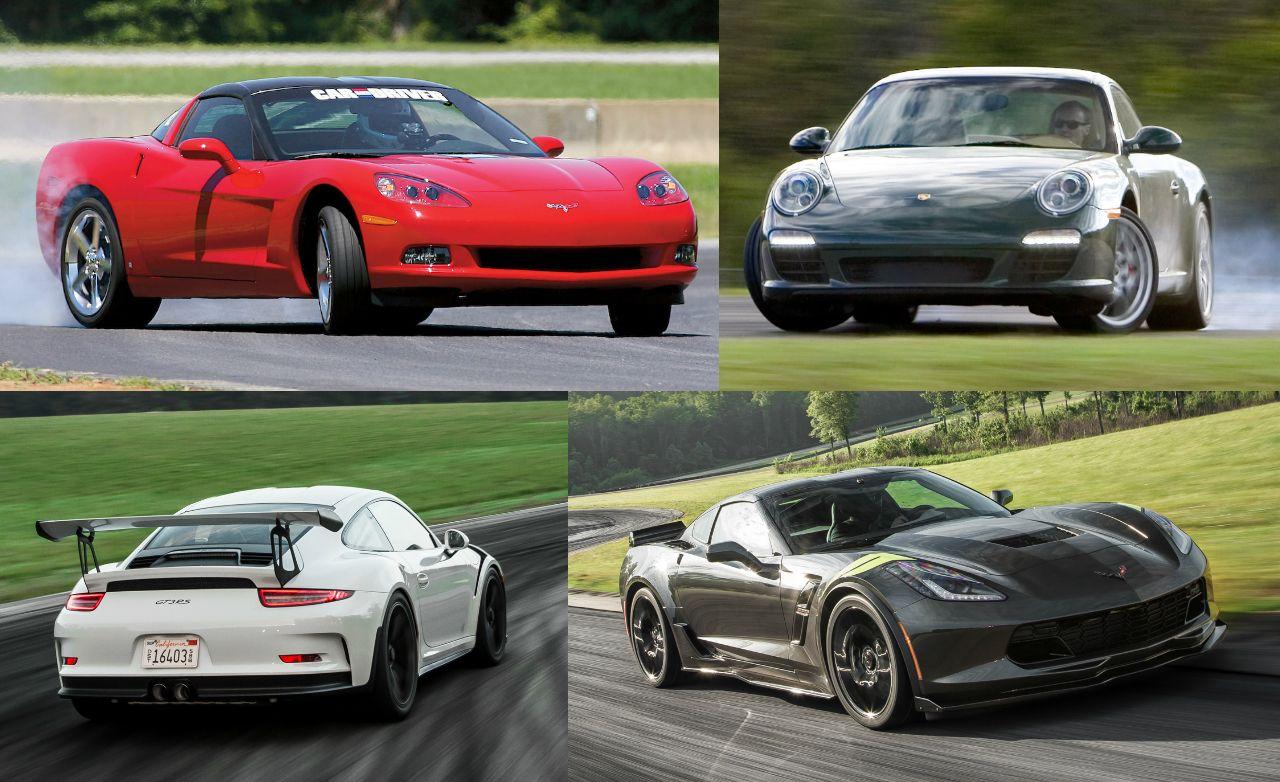 Lightning Lap Legends: Chevrolet Corvette vs. Porsche 911!
