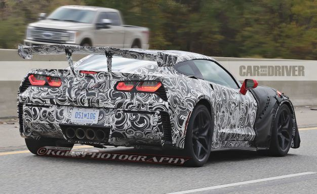 Wings over America: 2019 Corvette ZR1 Aero Flies High in Latest Spy Photos