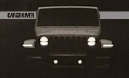 2018 Jeep Wrangler's Uncovered Face Comes into View: There Will Be LEDs