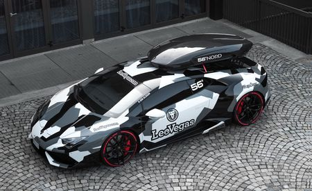 Yes He Huracan: Jon Olsson Applies the Snowy-Camo Treatment to Yet Another Supercar