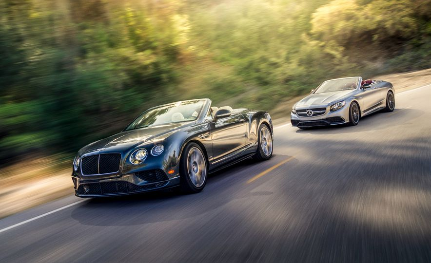 2017 Bentley Continental GT V8 S convertible and 2017 Mercedes-A - Slide 1