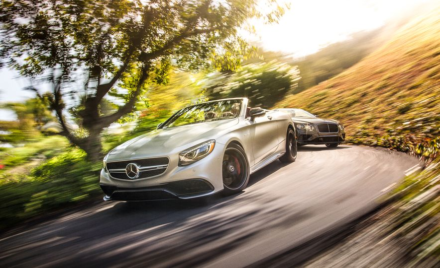 2017 Bentley Continental GT V8 S convertible and 2017 Mercedes-A - Slide 3