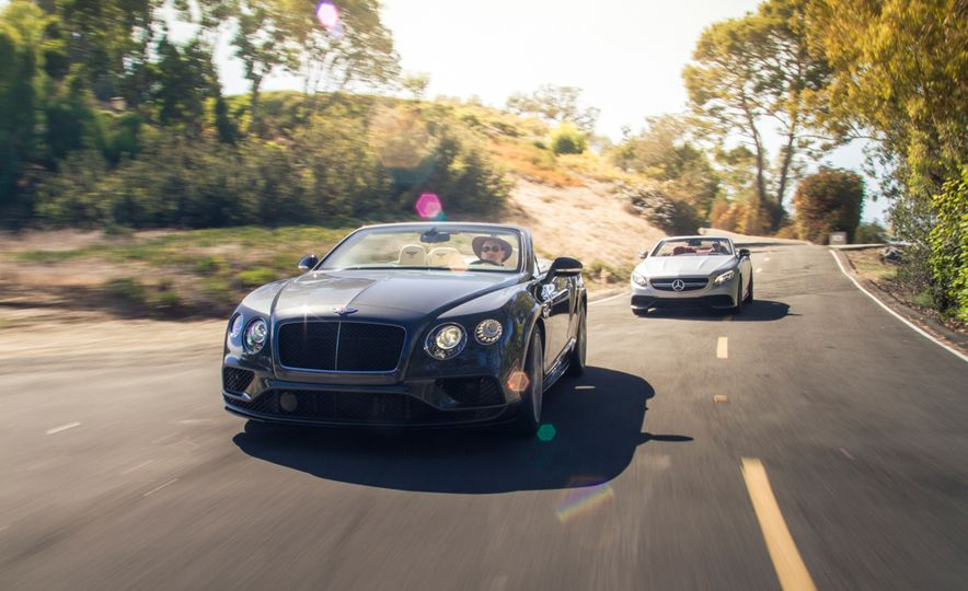 2017 Bentley Continental GT V8 S convertible and 2017 Mercedes-A - Slide 4