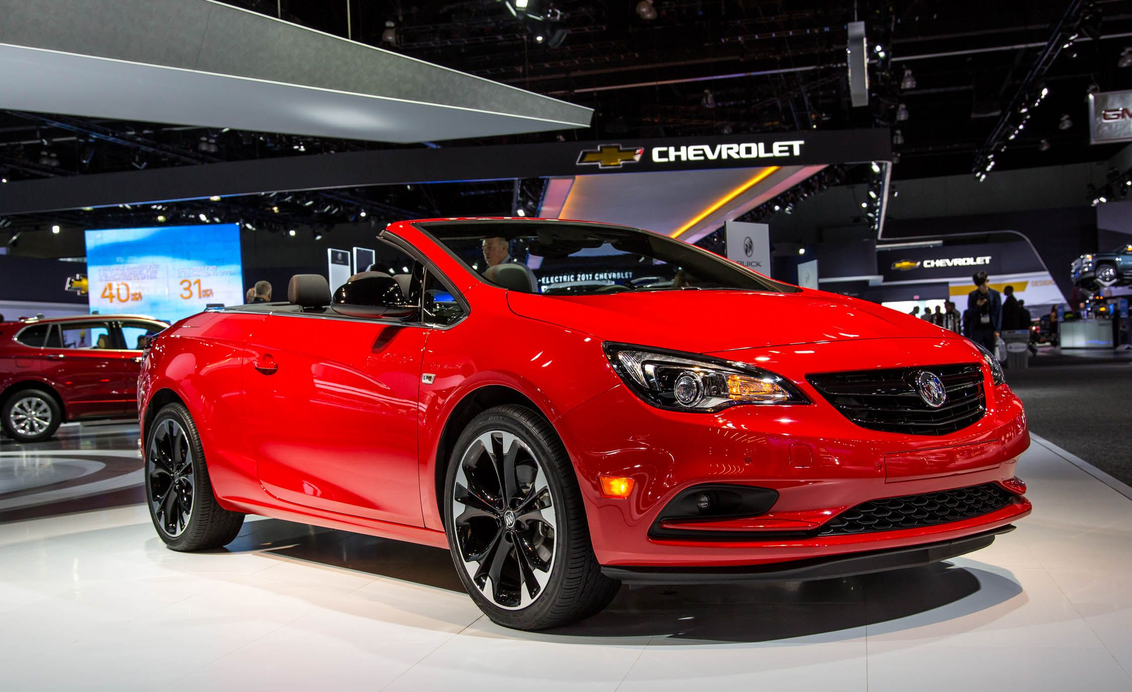 Color car los angeles - The Buick Cascada Sport Touring Or St Is Adding A Second Paint Choice To Its Color Palette With Its New Sport Red Paint Unveiled At The 2016 Los Angeles