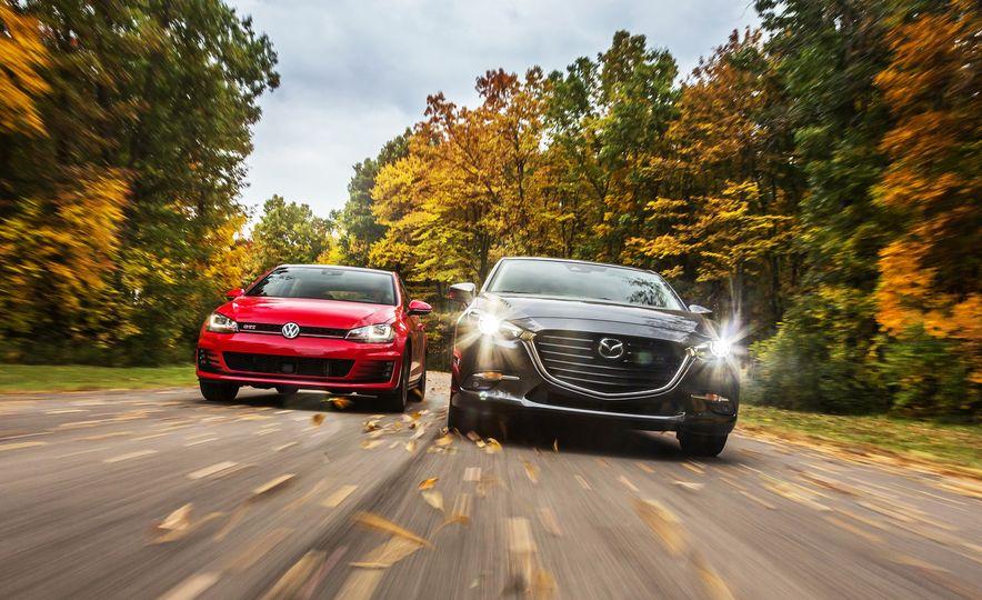 2017 Volkswagen GTI and 2017 Mazda 3 - Slide 1