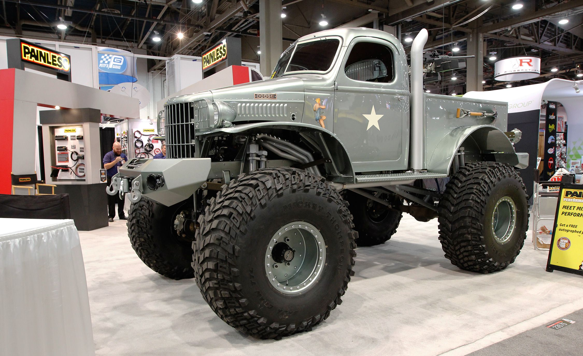 The Best Of Sema 2016 Day One A Batmobile Insane Customs And 1941 Dodge Truck Headliner Course Tank