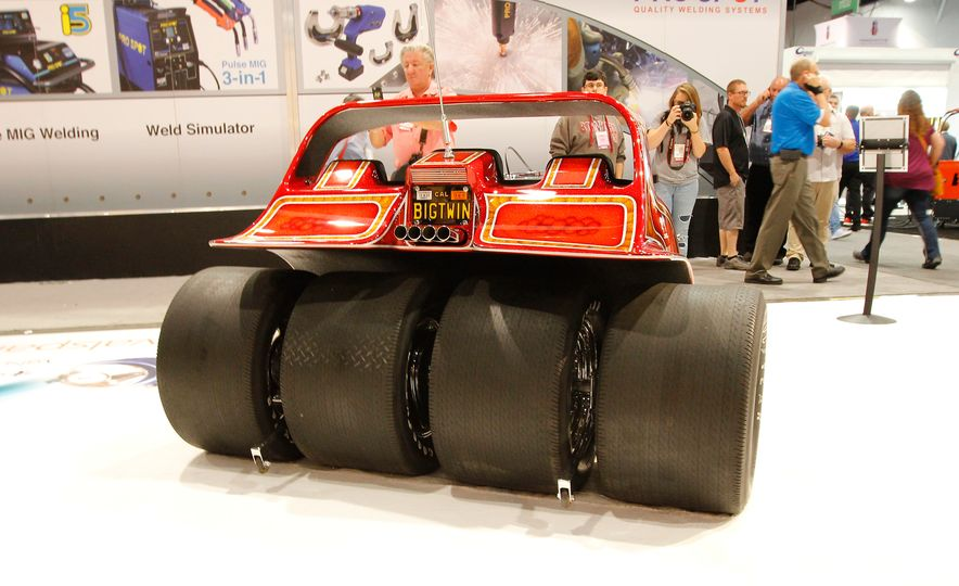 The Best of SEMA 2016, Day Two: A Five-Wheeled Motorcycle, an Electric Datsun, and More - Slide 3