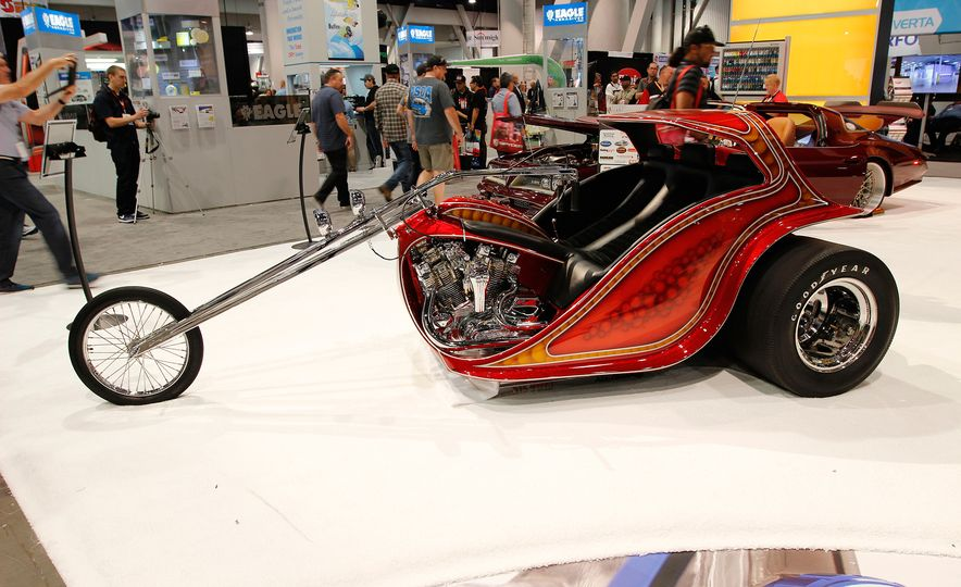 The Best of SEMA 2016, Day Two: A Five-Wheeled Motorcycle, an Electric Datsun, and More - Slide 2