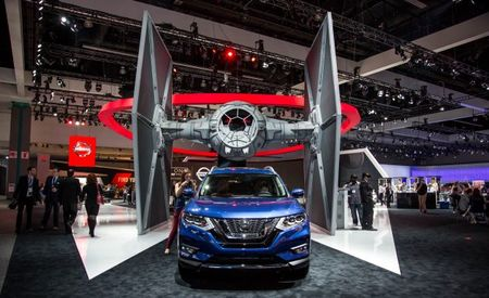 Nissan Brought a Massive Star Wars TIE Fighter to the L.A. Auto Show, and It Was Glorious