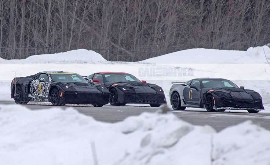 2019 Chevrolet Corvette C8 and 2018 Chevrolet Corvette ZR1 (spy photo) - Slide 2